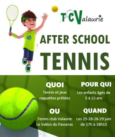 flyer tennis after school Valaurie